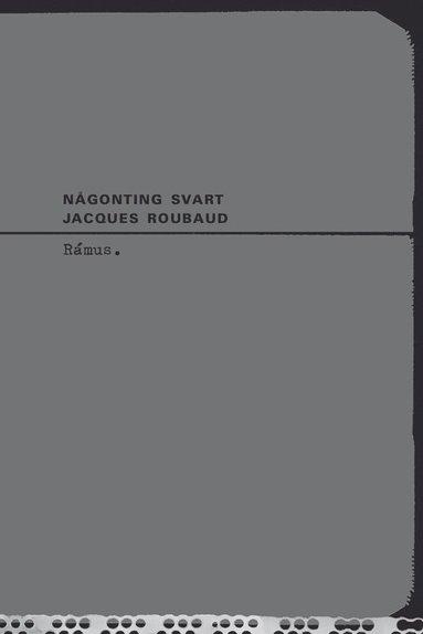 bokomslag Någonting svart