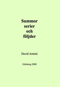 bokomslag Summor, serier och följder