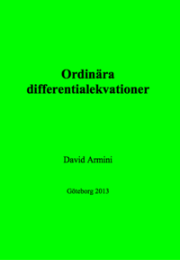 bokomslag Ordinära differentialekvationer