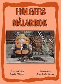 bokomslag Holgers orange målarbok - Måla med Holger på hummerfiske