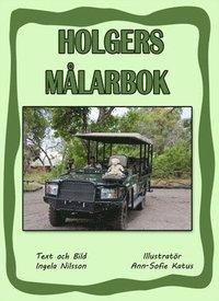 bokomslag Holgers gröna målarbok - Måla med Holger på safari