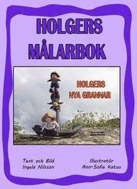 bokomslag Holgers lila målarbok - Måla med Holgers nya grannar