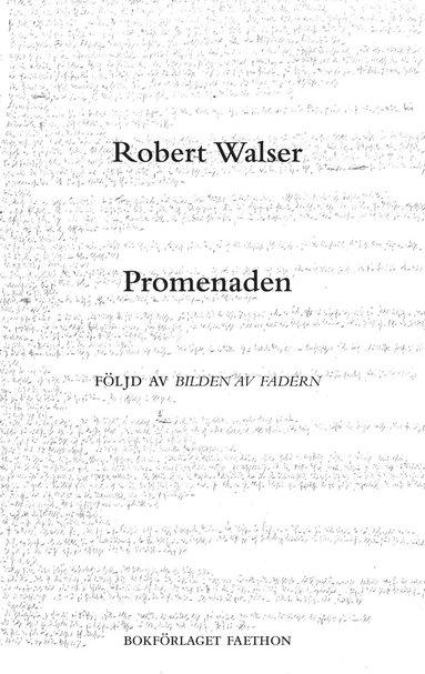 bokomslag Promenaden och Bilden av fadern