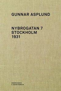 bokomslag Gunnar Asplund Nybrogatan 7 Stockholm 1931