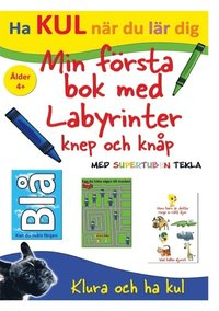 bokomslag Min första bok med labyrinter, knep och knåp - med Supertuben Tekla