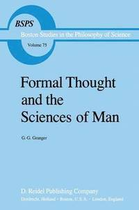 bokomslag Formal Thought and the Sciences of Man