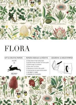 Pappersarksbok 50x70cm 12 ark Flora