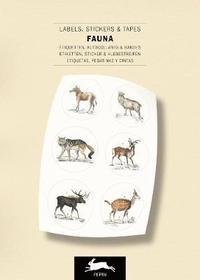 Etiketter, Klistermärken och tejp Fauna