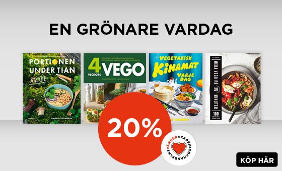 20% på vegetariska kokböcker